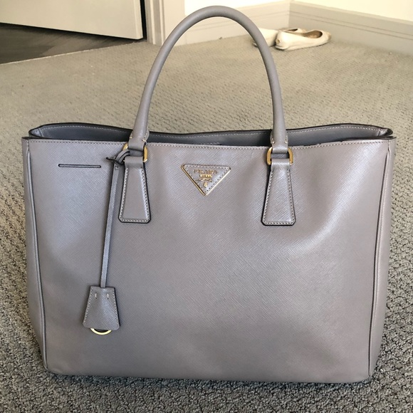 695edf68b614 Prada Bags | Like New Large Argilla Saffiano Leather Tote | Poshmark